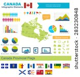 canada infographic elements ... | Shutterstock .eps vector #283230848