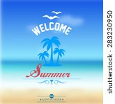 summer poster flyer | Shutterstock .eps vector #283230950