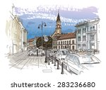 vector drawing of central... | Shutterstock .eps vector #283236680
