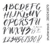vector handmade roman alphabet  ... | Shutterstock .eps vector #283241870