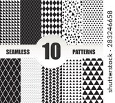 set seamless geometric patterns.... | Shutterstock .eps vector #283246658