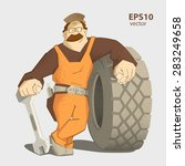 car tire tyre service... | Shutterstock .eps vector #283249658