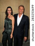"""Small photo of LOS ANGELES - MAY 6: Dolph Lundgren, Jenny Sanderson at the """"Skin Trade"""" Los Angeles Premiere at the Egyptian Theater on May 6, 2015 in Los Angeles, CA"""