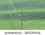 high voltage power line on... | Shutterstock . vector #283254416