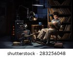 robot child and the mechanic... | Shutterstock . vector #283256048