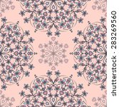 seamless pattern ethnic style.... | Shutterstock .eps vector #283269560