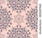 seamless pattern ethnic style.... | Shutterstock .eps vector #283269560