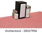 table with red gingham... | Shutterstock . vector #28327906