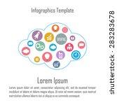 cloud infographics. abstract... | Shutterstock .eps vector #283283678