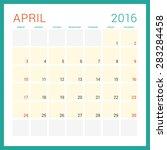 calendar 2016. vector flat... | Shutterstock .eps vector #283284458