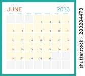 calendar 2016. vector flat... | Shutterstock .eps vector #283284473