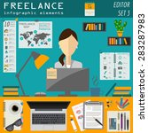 freelance infographic template. ... | Shutterstock .eps vector #283287983