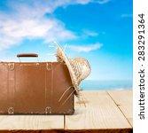 traveling  summer  beach. | Shutterstock . vector #283291364