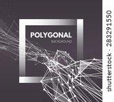 wireframe mesh polygonal... | Shutterstock .eps vector #283291550