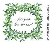 arugula leaves and go green... | Shutterstock .eps vector #283292513