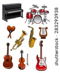 Musical Instruments In Cartoon...