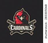 modern professional baseball... | Shutterstock .eps vector #283305068