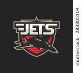 modern professional jets logo... | Shutterstock .eps vector #283305104