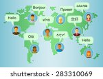 foreign languages greeting. set ... | Shutterstock .eps vector #283310069