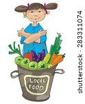vendor of locally grown produce ... | Shutterstock .eps vector #283311074