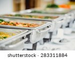catering food eat party  | Shutterstock . vector #283311884