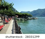 The Embankment Of Lake Lugano....
