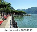 The Embankment Of Lake Lugano....