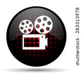 movie red glossy web icon  | Shutterstock . vector #283313978