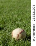 a close up of a baseball laying ... | Shutterstock . vector #283321076