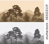 set seamless horizontal...   Shutterstock . vector #283323119