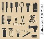 hairdresser icons | Shutterstock .eps vector #283325108