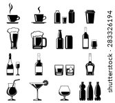 monochromatic icons set of some ... | Shutterstock . vector #283326194