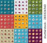 flat concept  set modern design ... | Shutterstock .eps vector #283326560