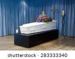 a coffin with a flower... | Shutterstock . vector #283333340