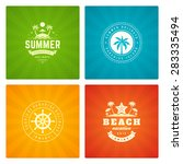 summer holidays labels design... | Shutterstock .eps vector #283335494