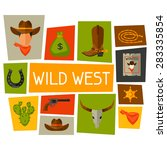 wild west background with... | Shutterstock .eps vector #283335854
