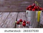 Delicious Fresh Cherries On...