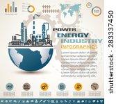 industry infographics template  ... | Shutterstock .eps vector #283337450