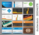 fifteen colorful business card... | Shutterstock .eps vector #283346378
