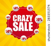 sale banner design  vector... | Shutterstock .eps vector #283351574