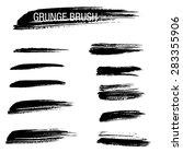 vector set of grunge brush... | Shutterstock .eps vector #283355906