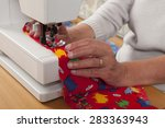 sewing with sewer machine ... | Shutterstock . vector #283363943