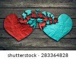 romantic relationship concept... | Shutterstock . vector #283364828