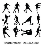 different poses of soccer...   Shutterstock .eps vector #283365800