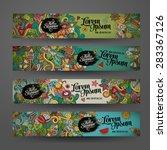 vector banner templates set... | Shutterstock .eps vector #283367126