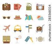 travel icon | Shutterstock .eps vector #283368314