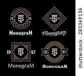 set art deco luxury classic... | Shutterstock .eps vector #283369136