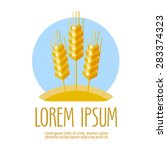 wheat vector logo design... | Shutterstock .eps vector #283374323