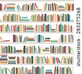 library  bookstore   seamless... | Shutterstock .eps vector #283375268