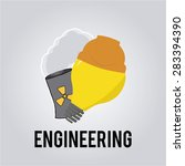 engineering over color... | Shutterstock .eps vector #283394390